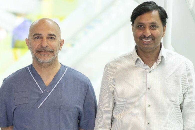 Hareth Nahi och Muhammad Kashif vid institutionen för medicin i Huddinge