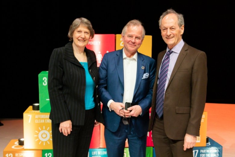 Helen Clark, Ole Petter Ottersen and Michael Marmot at the Rethinking Higher Education conference in March 2019