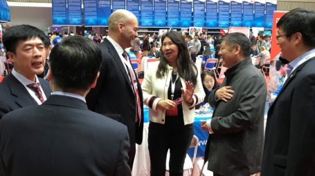 Robert Harris, Nailin Li and Luni Chen meet CSC leadership