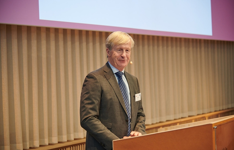 Carl Bennet at the inauguration ceremony of AIMES on 30 September 2020, in Biomedicum.