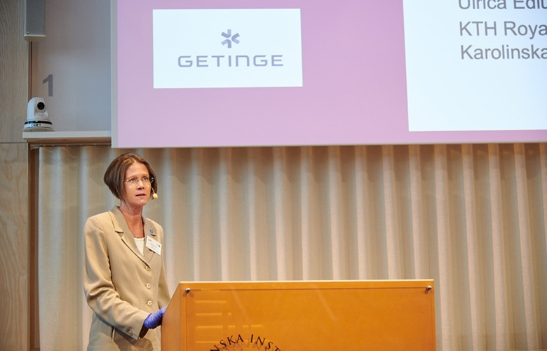 Ulrica Edlund talks at the inauguration of AIMES on 30 September 2020 in Biomedicum